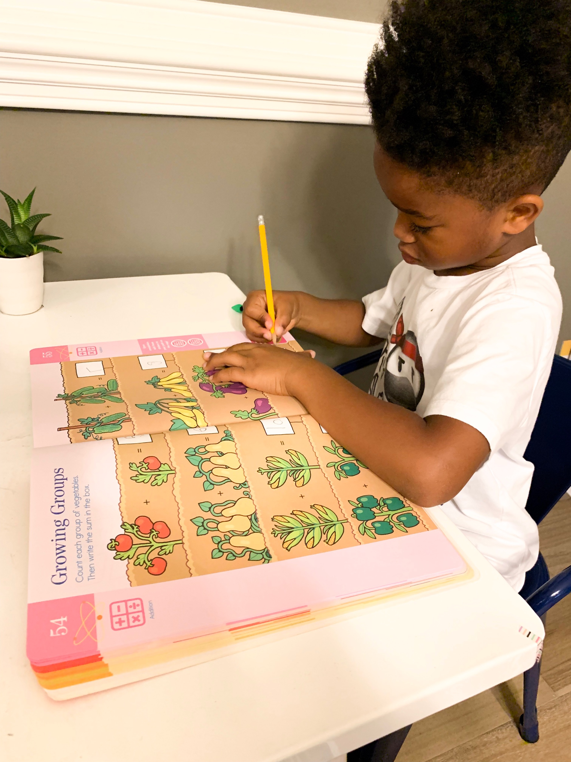 The Brain Quest Summer books combine Kindergarten and First grade work to help bridge to the new school year.