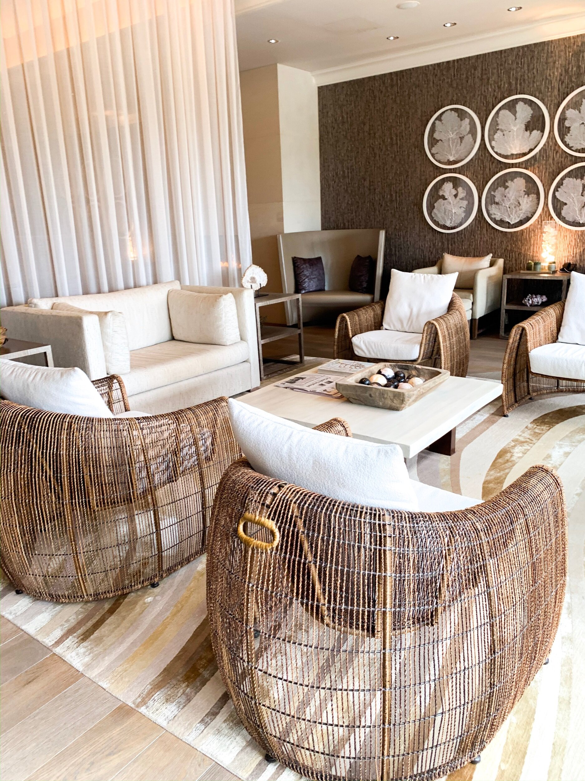 The Spa waiting area