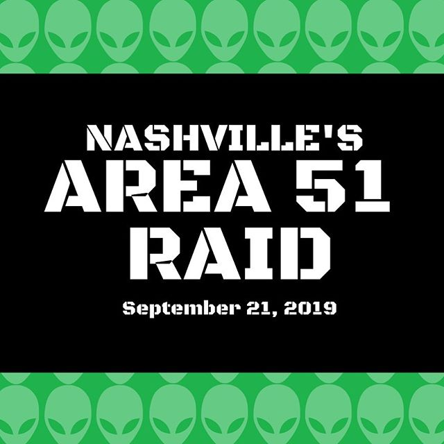 We can't all be in Nevada to support our comrades👽 but we can support them from afar💫 We're hosting Nashville's Area 51 Raid on Sept 21st🛸 Click the link in our bio for all the details!