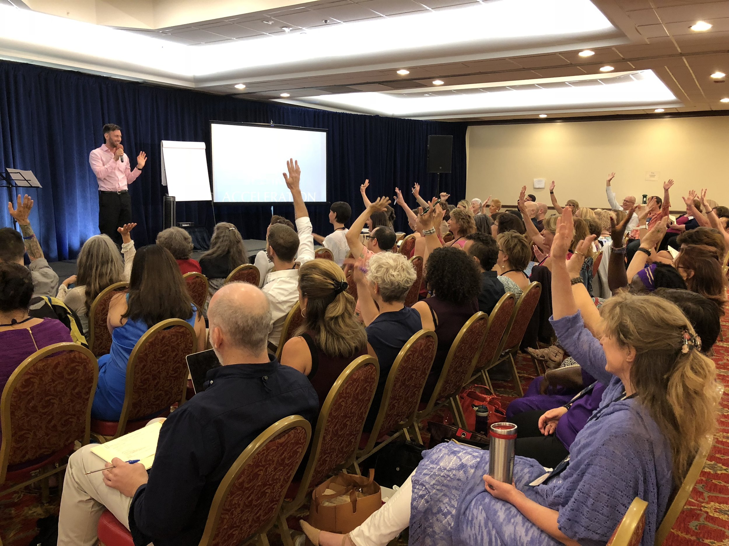 """Photo from """"Six Figure Speaker"""" training in Silicon Valley"""