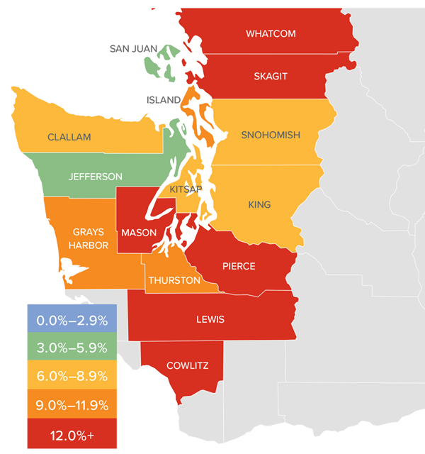 Western Washington Matthew Gardner Real Estate Market Update Q3 October 2018 home prices.png