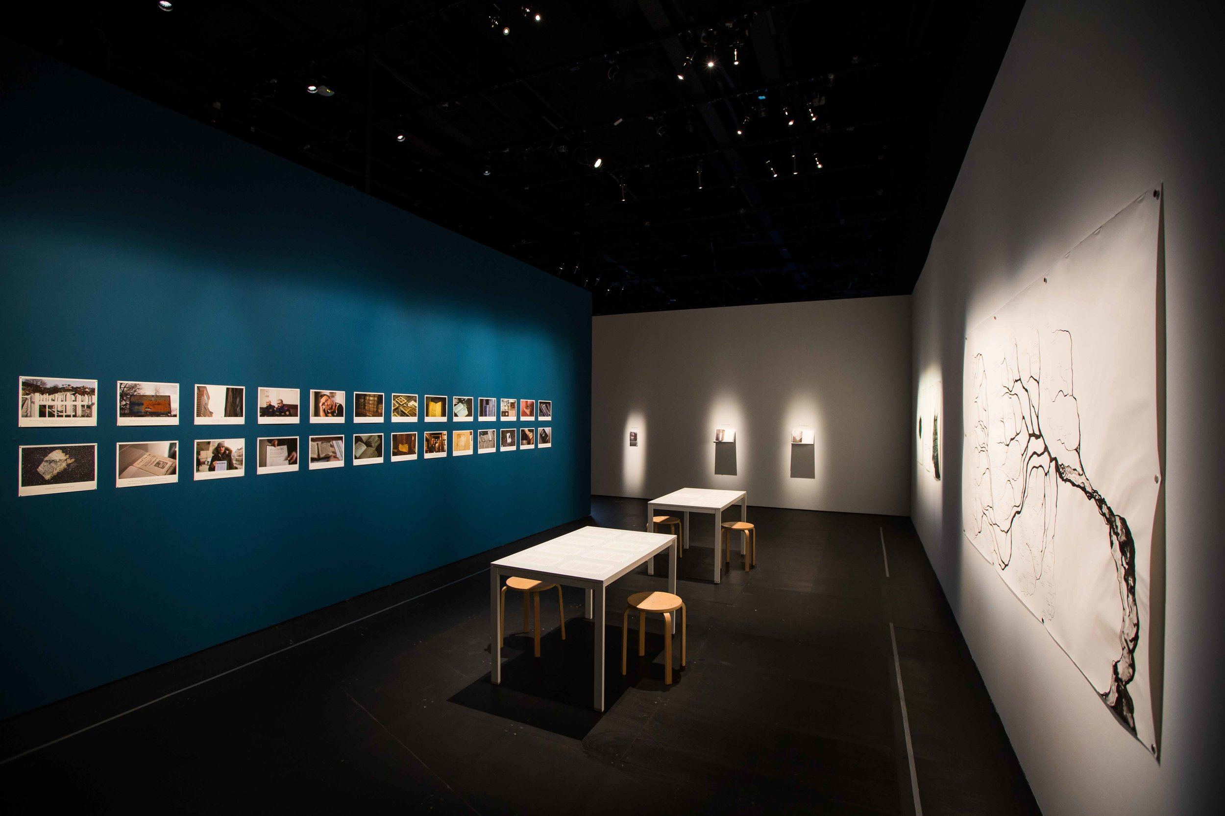 Shubigi Rao, 'Pulp: A Short Biography of the Banished Book. Vol I: Written in the Margins (2014–2016)', 2014-16, film clips, giclée prints with text, ink drawings, artist's book and table with three texts, dimensions variable. Image courtesy of Singapore Art Museum.