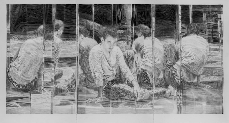Iris Levasseur, 'Bbp Miroir', 2014, graphite on paper, 195 x 342cm. Image courtesy of Parkview Museum Singapore.