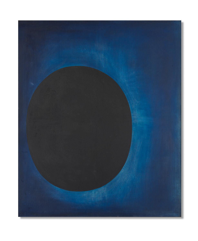 Richard Lin, 'Untitled (The Black Sun)', 1958-1960, oil on canvas, 152.7 x 127.5cm. Image courtesy of Bonhams.