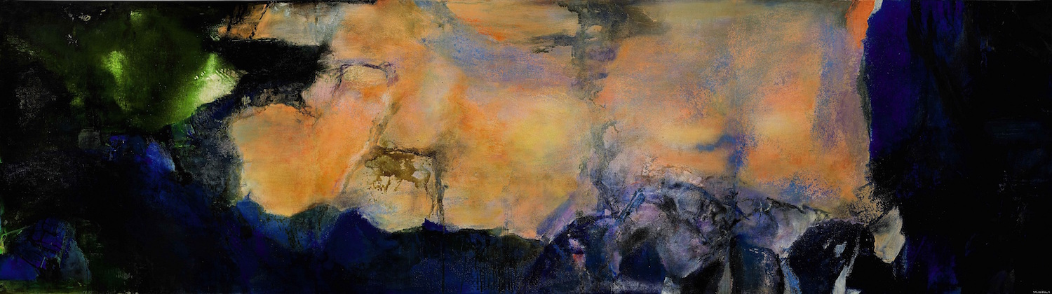 Zao Wou-Ki, 'Juin-Octobre 1985', oil on canvas (triptych), 280 x 1000cm, 1985. Image courtesy of Sotheby's Hong Kong Limited.