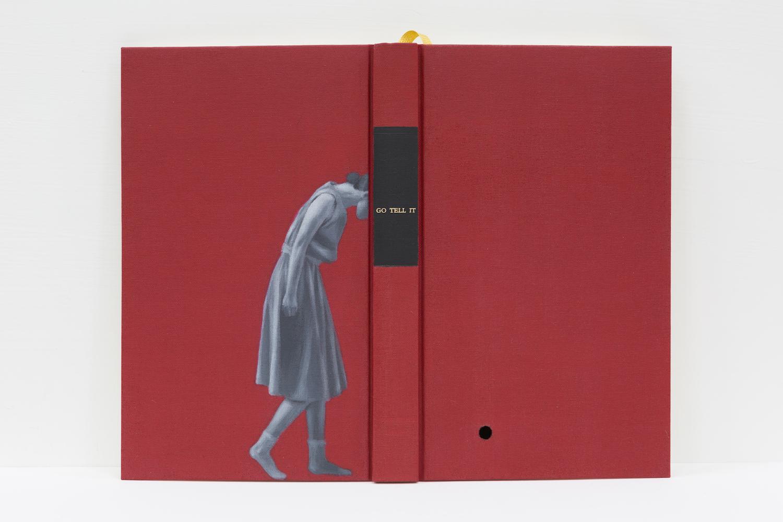 Joyce Ho, 'Go Tell It', 2018, acrylic paint on book, aluminium frame, 21 x 27 x 1.5cm. Image courtesy of Asia Art Archive.