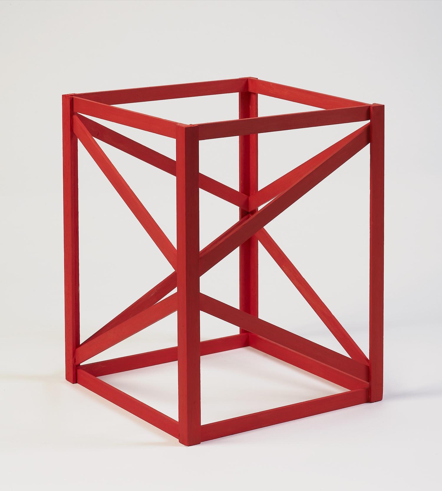 Rasheed Araeen, 'Multi Red', 1968/2018, acrylic on wood, 30.6 x 23 x 23 cm. Image courtesy of Asia Art Archive.