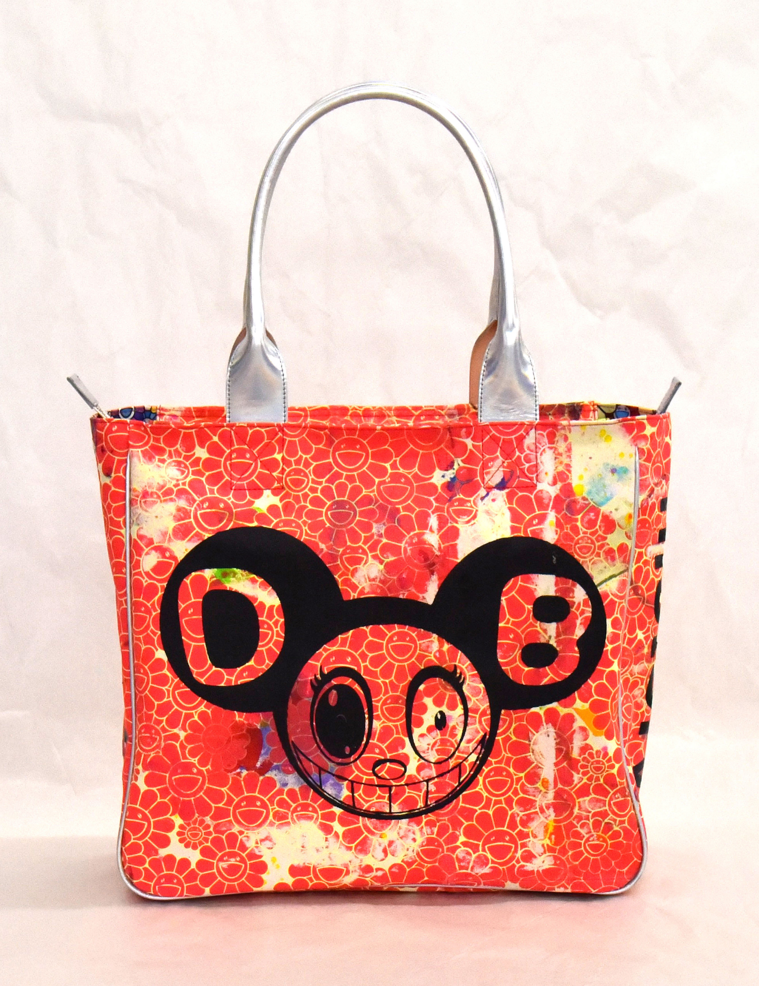 Takashi Murakami & Virgil Abloh, 'Bag', 2018, canvas and leather, 61 x 40.5 x 14cm, unique. Image courtesy of Asia Art Archive.