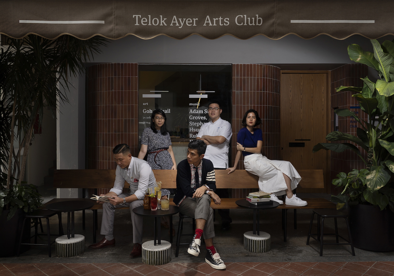 The Telok Ayer Arts Club team. Clockwise from back left: Kamiliah Bahdar, Bertram Leong, Anmari van Nieuwenhove, Hasnor Sidik, Din Hassan.