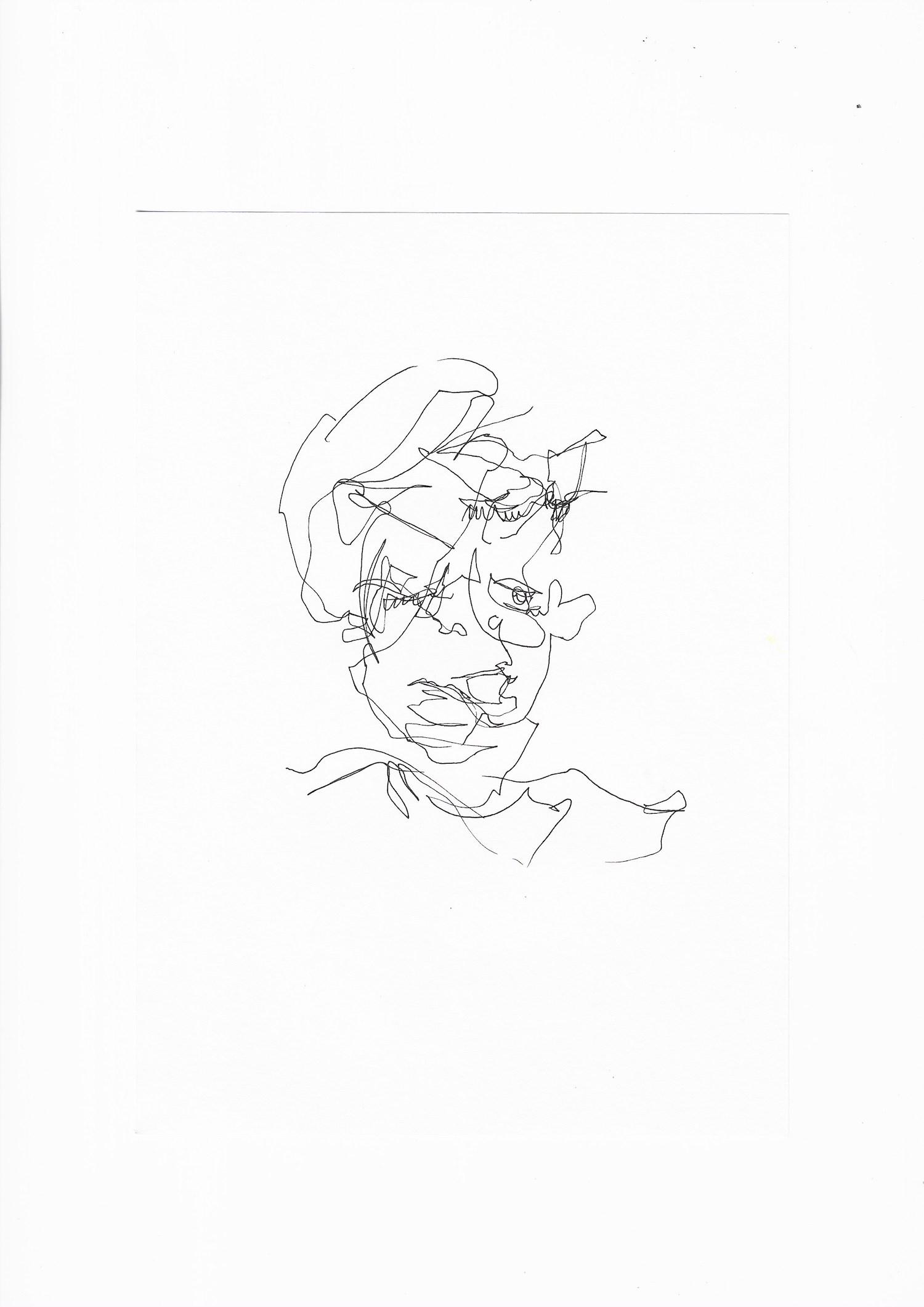 A drawing by Abigail Goh, made at Telok Ayer Arts Club.