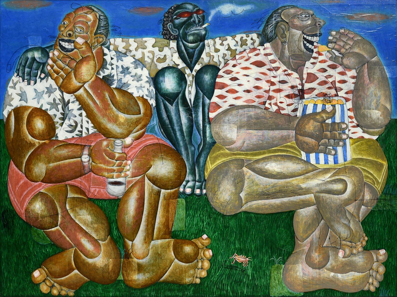 I Nyoman Masriadi, 'Saudaraku Sudah Besar', 2010, acrylic on canvas, 150 x 200cm. Image courtesy of Deddy Kusuma.