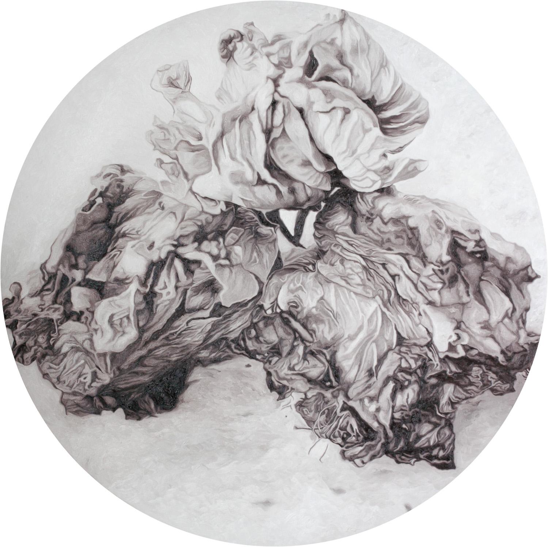 Patricia Perez Eustaquio, 'Flowers for X, II', 2016, oil on canvas, 152.5cm (diameter). Image courtesy of Silverlens.