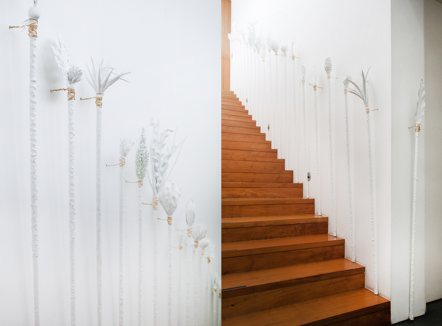 Patricia Perez Eustaquio, 'Untitled (The Hunters)', 2016, plastic plants, house paint, PVC, epoxy, gold aluminium wire, dimensions variable. Image courtesy of Silverlens.