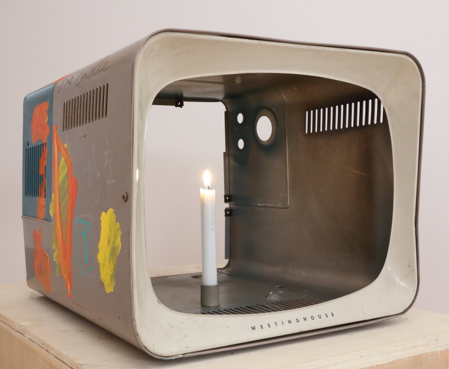 Nam June Paik, 'One Candle', 1989. Image courtesy of León Gallery International.