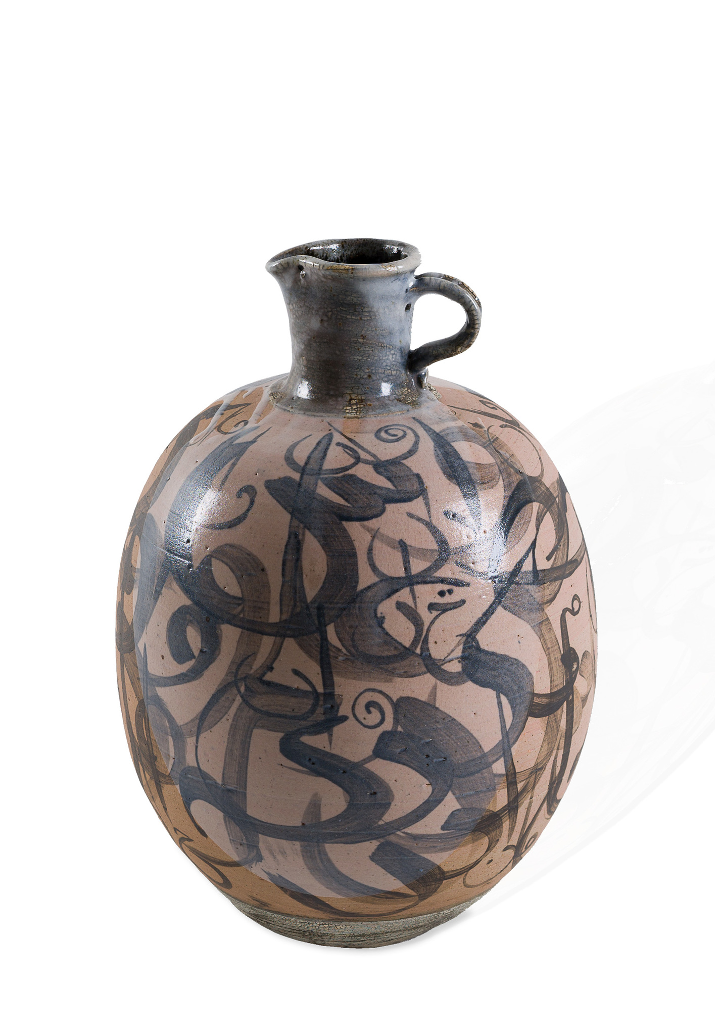 Iskandar Jalil, 'Untitled Vessel with Jawi Script', stoneware, 38.5 x 26.5 x 26cm. Image courtesy of 33 Auction.