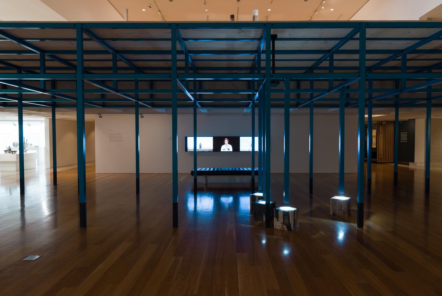 Boedi Widjaja, 'Black—Hut, Black—Hut', 2018–19, installation view at Queensland Art Gallery | Gallery of Modern Art. Photograph by Natasha Harth. Image courtesy of the artist.
