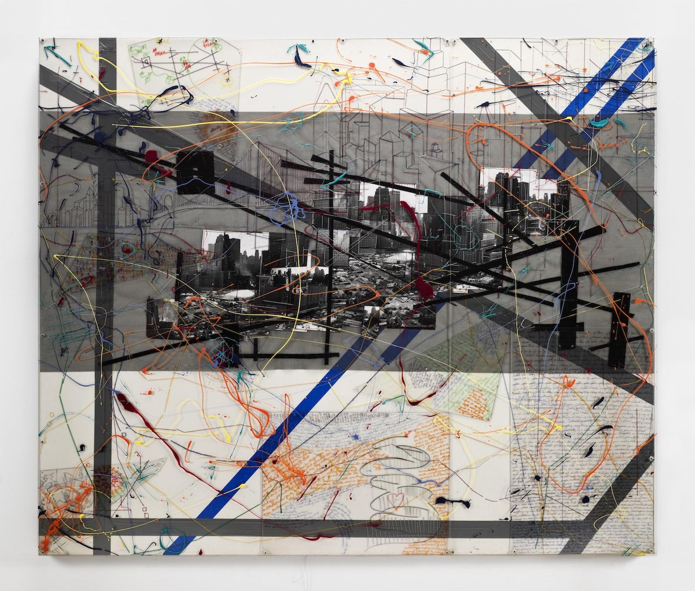 "Lucy Liu, 'Velocity', 2006-2008, mixed-media on canvas, 60"" x 72"". Image courtesy of Ryan Foundation."