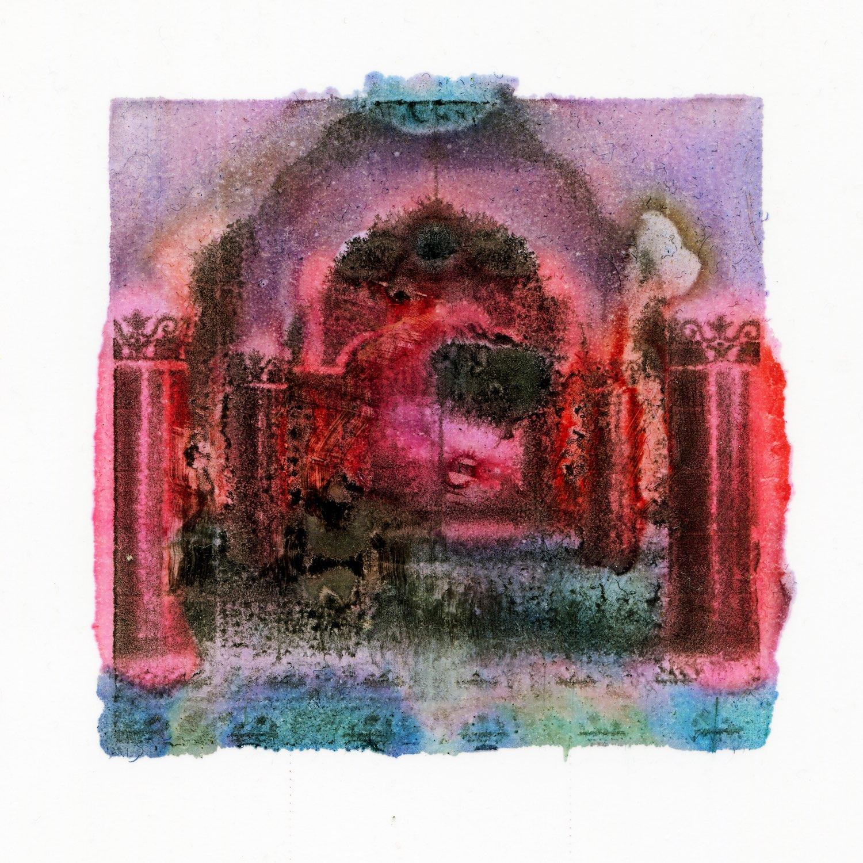 Noor Iskandar, 'Masjid 2', 2018, digital print on fabric, 35cm x 35cm. Image courtesy of Amador Arts Projects.