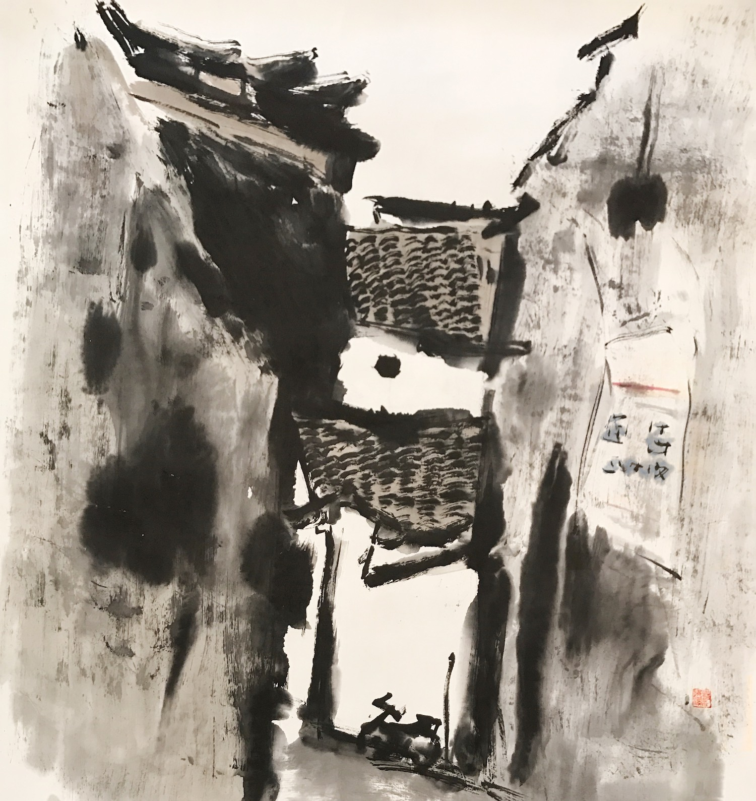 Chua Ek Kay, 'A Quiet Singapore Afternoon', 2006, chinese ink on paper, 97 x 90cm. Image courtesy of Art Agenda S.E.A.