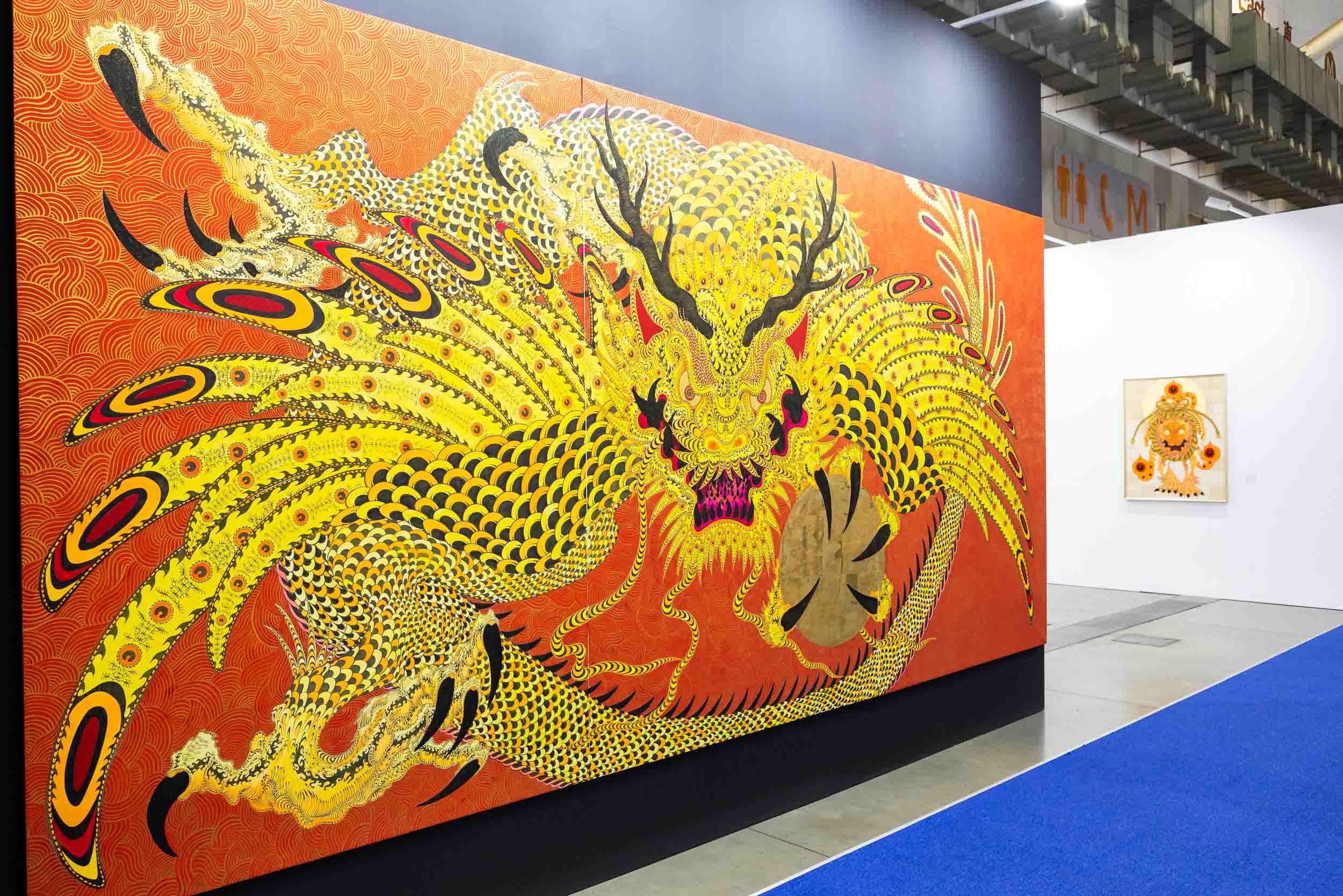 Installation view of Mizuma Art Gallery's booth. Image courtesy of Taipei Dangdai.