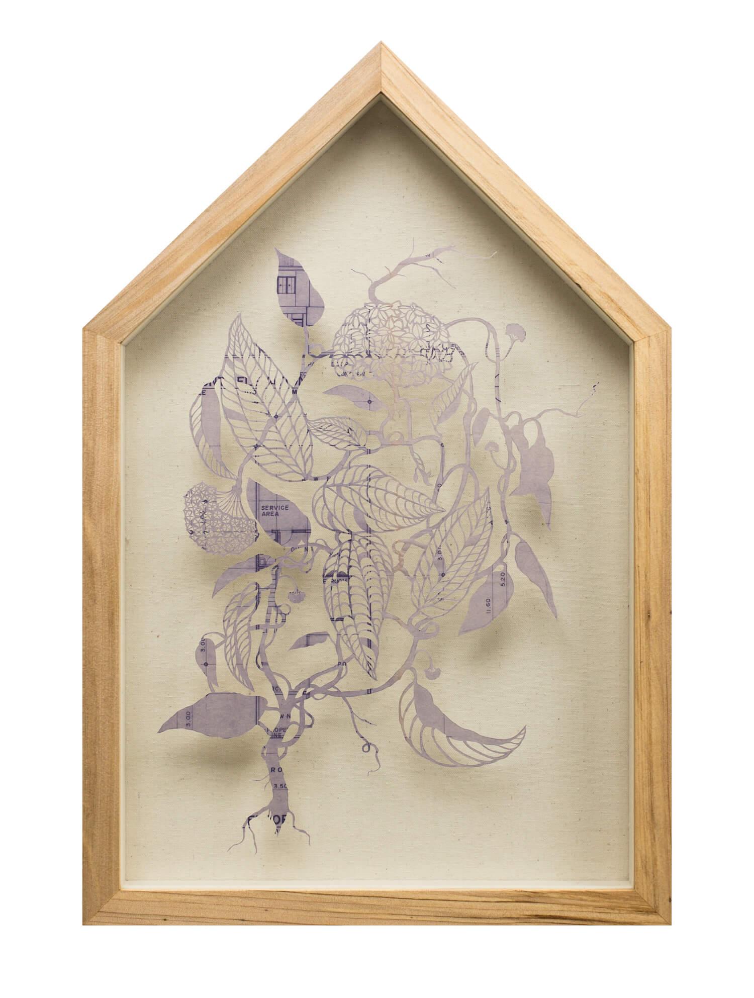 Ryan Villamael, 'Home: Hoya', 2019, blueprint, 61.5 x 40cm. Image courtesy of Silverlens and the artist.
