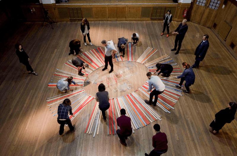 Brigid Mc Leer, 'N Scale: Living Memorial', 2017, performance at Conway Hall in London. Image courtesy of Brian Curtin.