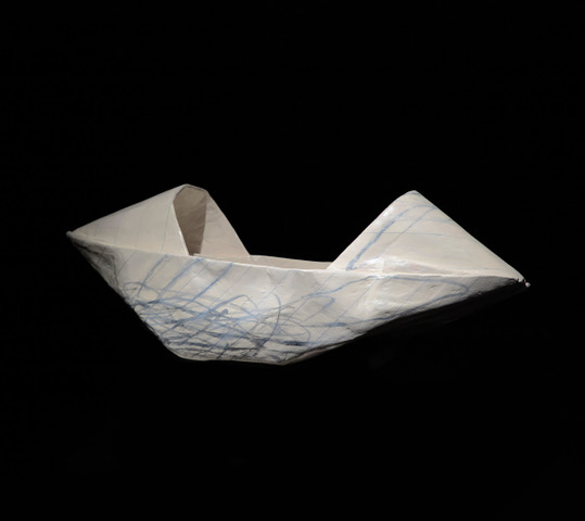 Tran Tuan, 'Convertible Boat', 2018, resin sculpture, 18 x 51 x 20cm. Image courtesy of Vin Gallery.