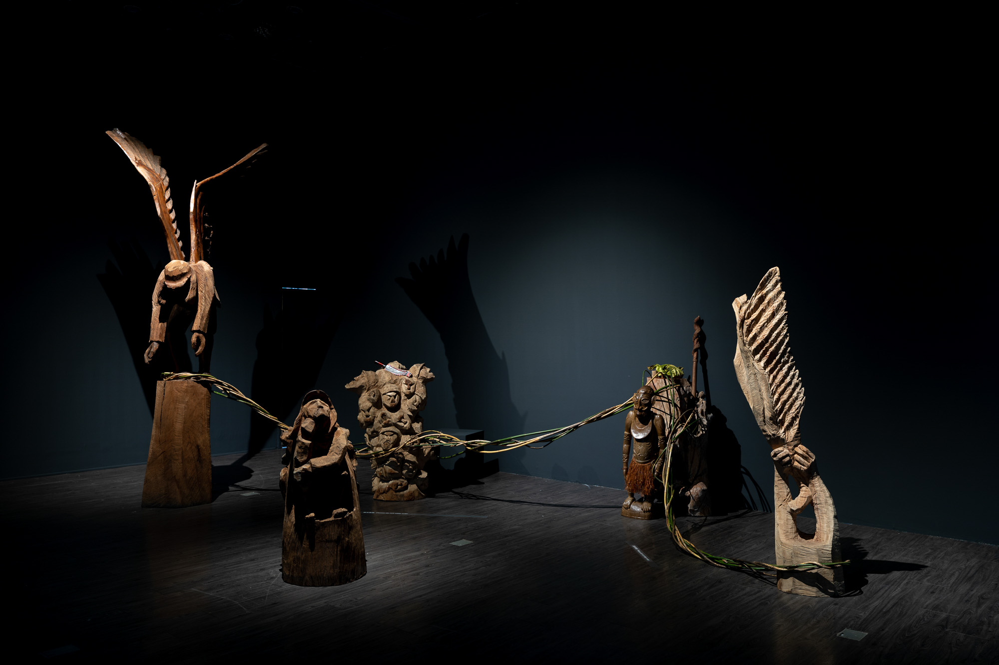 Siki Sufin, 'Masalauway', 2019, wood, objects, dimensions variable. Image courtesy of MOCA Taipei.