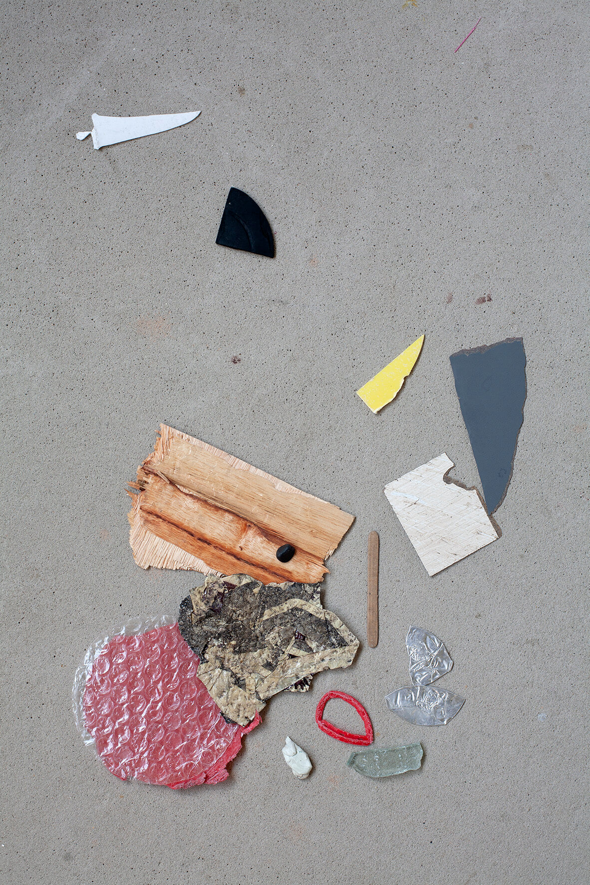 Chua Chye Teck, 'Under The Bodhi Tree' (detail), 2019, found objects and images printed on recypal paper, dimensions variable. Image courtesy of Ota Fine Arts.