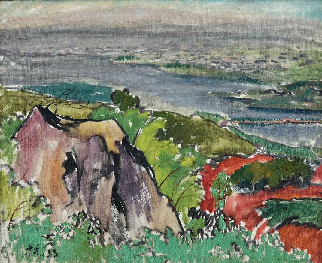 Liu Kang, 'West Lake', 1933, oil on canvas, 75 x 61cm. Image courtesy of Phillips.