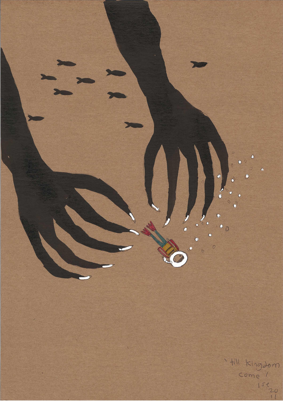 Roslisham Ismail (Ise), 'Till Kingdom Come', 2011, pen on paper, 29.7 x 21cm. Image courtesy of A+ Works of Art.