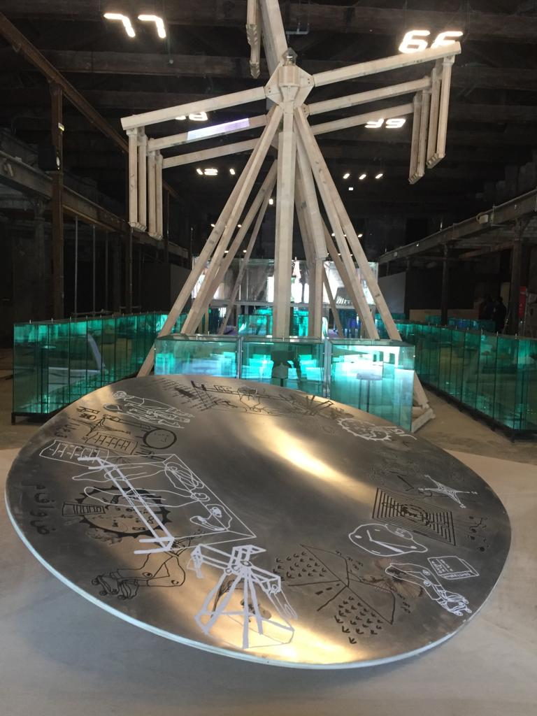 Indonesia Pavilion at the Venice Biennale Arte 2019. 'Lost Verses: Akal Tak Sekali Datang, Runding Tak Sekali Tiba' by artists Handiwirman Saputra and Syagini Ratna Wulan, together with curators Asmudjo Jono Irianto and Yacobus Ari Respati. Image courtesy of the artists.