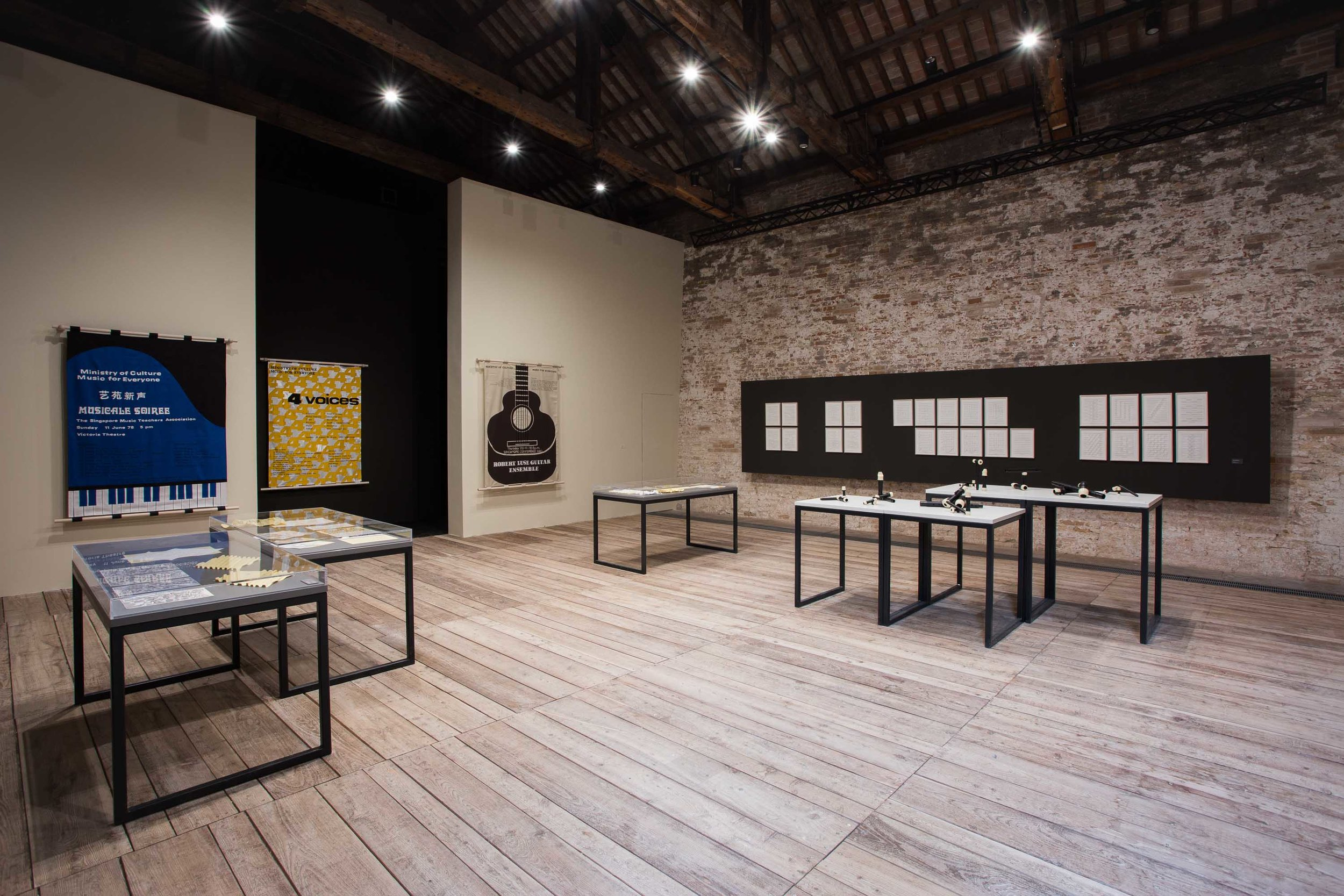 Singapore Pavilion at the Venice Biennale Arte 2019. 'Music For Everyone/ Variations on a Theme' by artist Song-Ming Ang and curator Michelle Ho. Photo by Olivia Kwok, courtesy of the artist.
