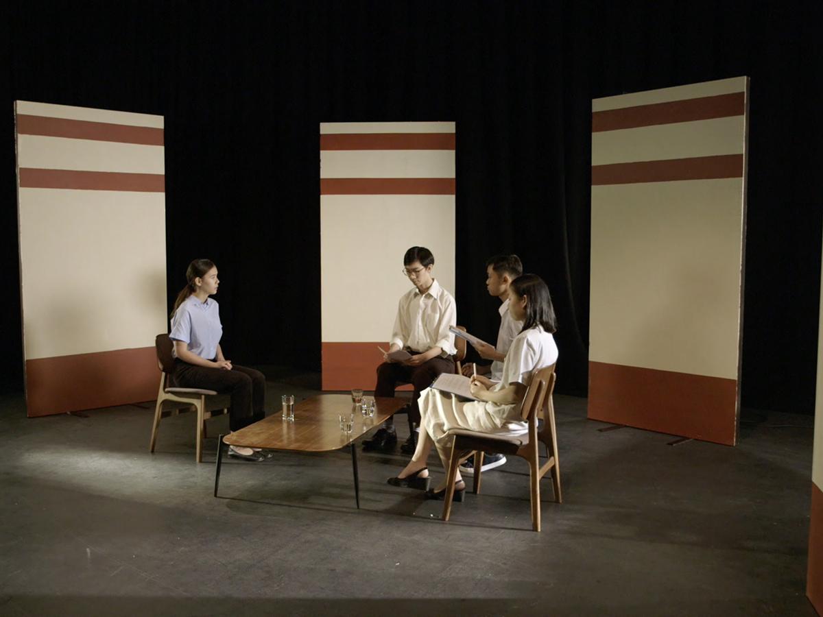 Green Zeng, 'Student Reconstruction' (video still), 2018, video installation. Image courtesy of the artist.