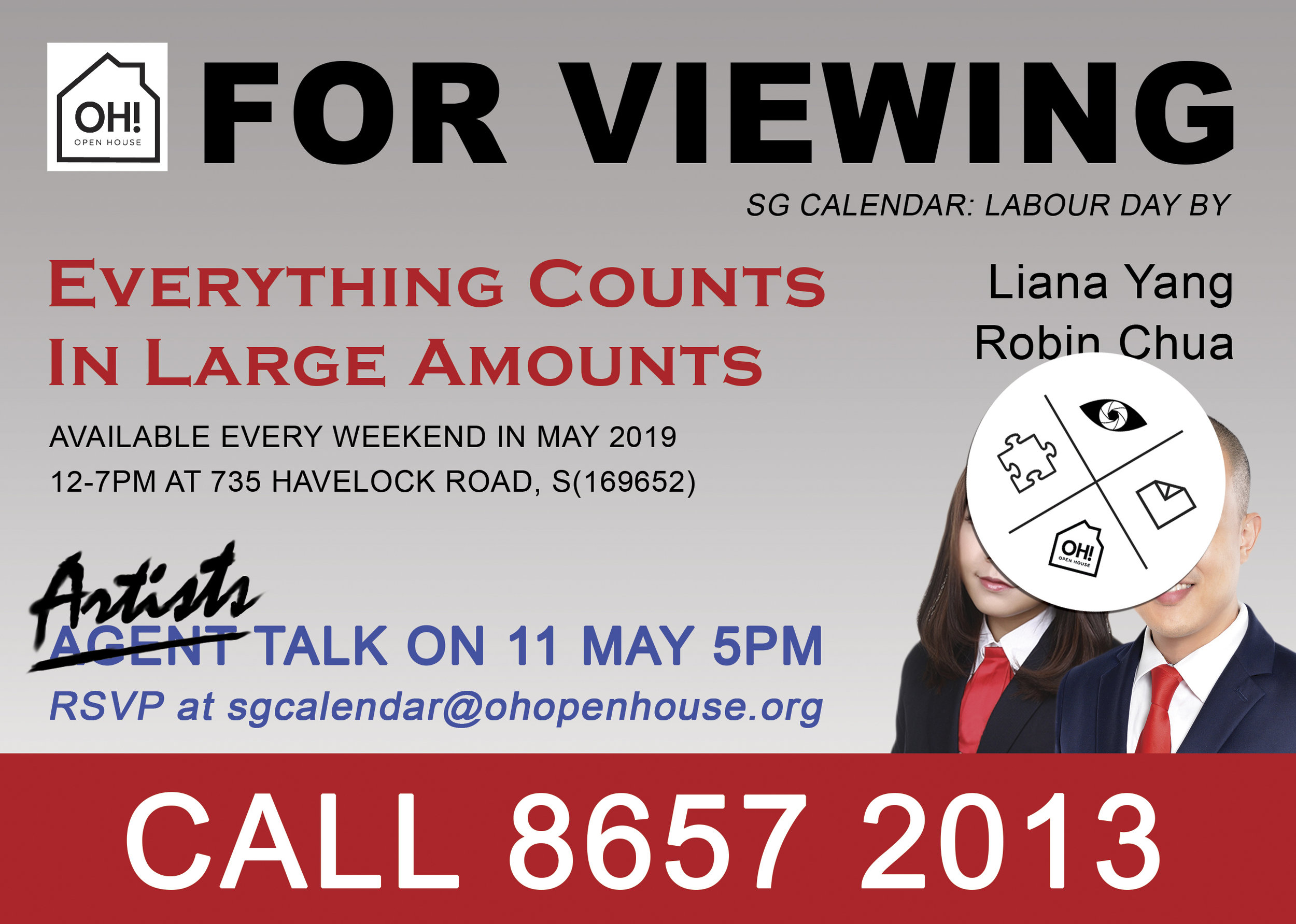Invitation to 'Everything Counts in Large Amounts'. Image courtesy of Liana Yang and Robin Chua.