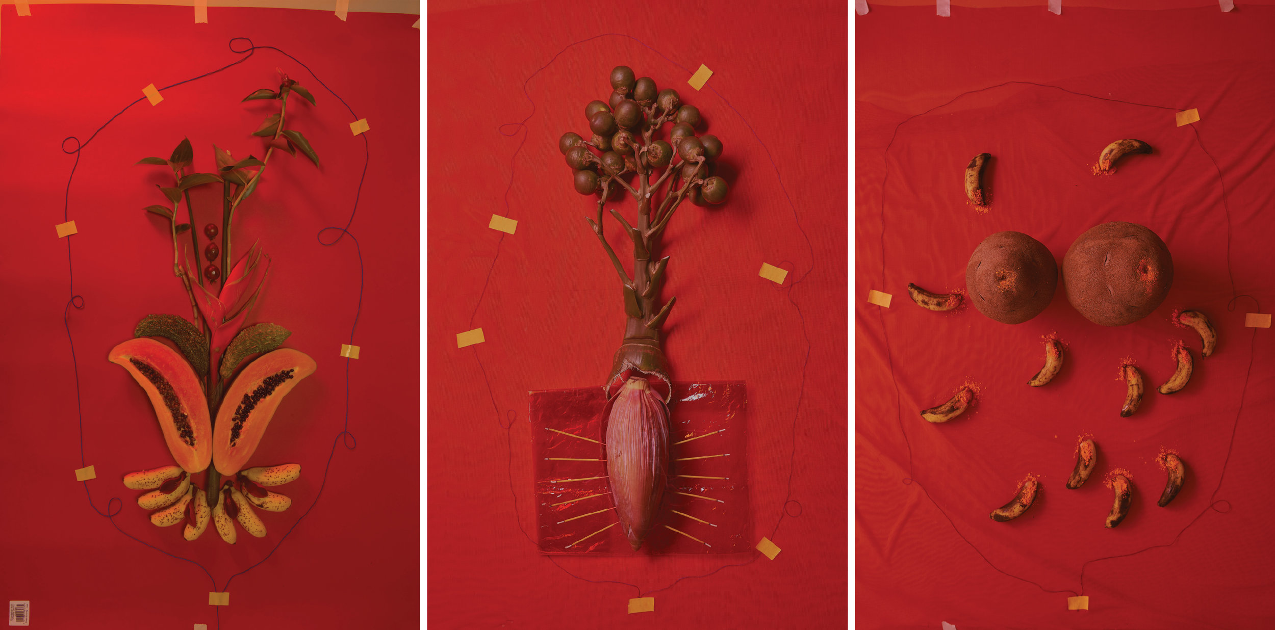 Võ Thuỷ Tiên, 'Worship', 2017-18, triptych, inkjet print on paper, edition of 3 + 2 artist's proofs. Image courtesy of The Factory.