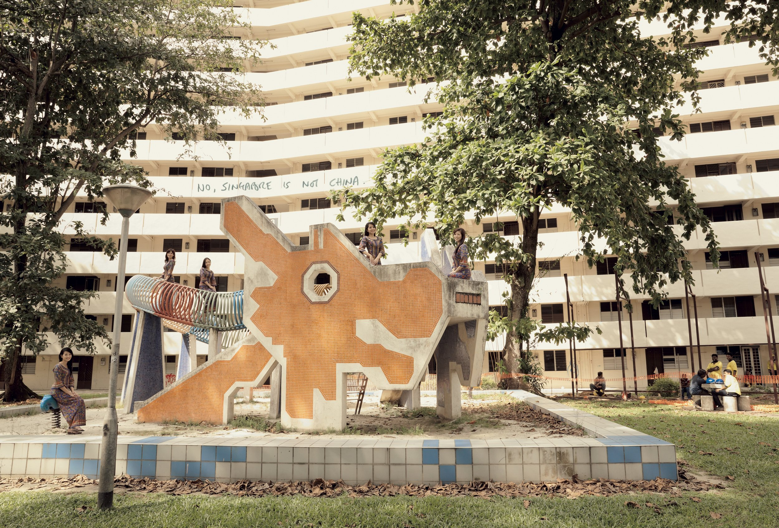 John Clang, 'Land of My Heart: Dragon Playground'. Image courtesy of the artist and DECK Singapore.