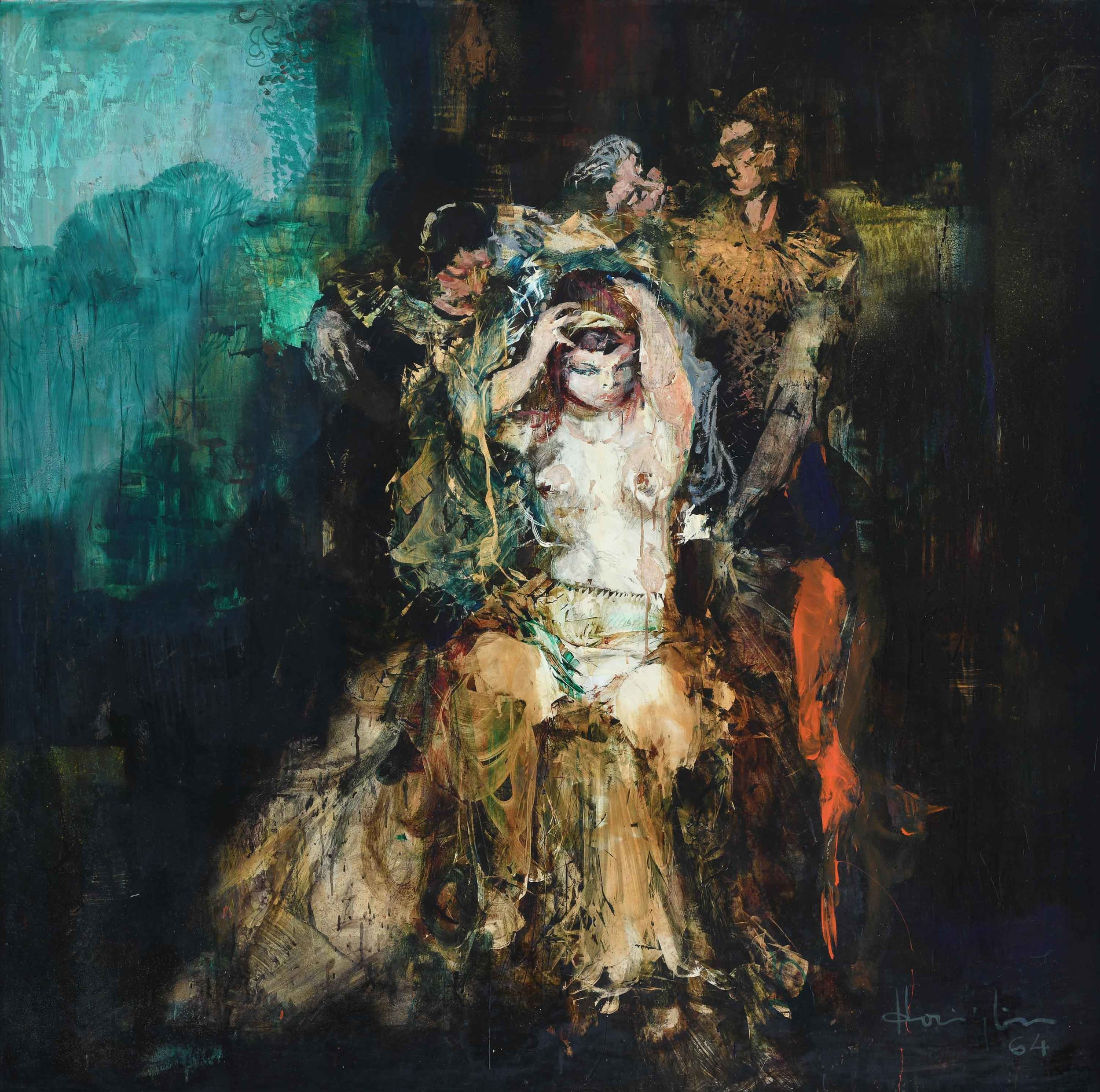 Vincent Hoisington, 'Untitled (A Scene from the Opera)', 1964, oil on board, 150 x 150cm. Image courtesy of Art Agenda, S.E.A.