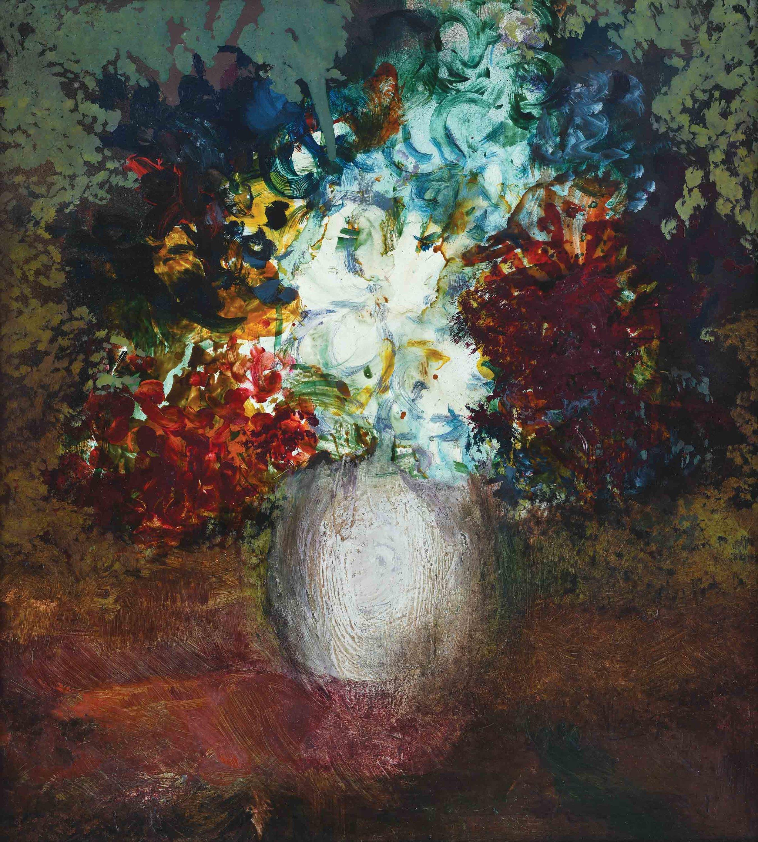 Vincent Hoisington, 'Untitled (Still Life)', 1970, oil on board, 55 x 50cm. Image courtesy of Art Agenda, S.E.A.