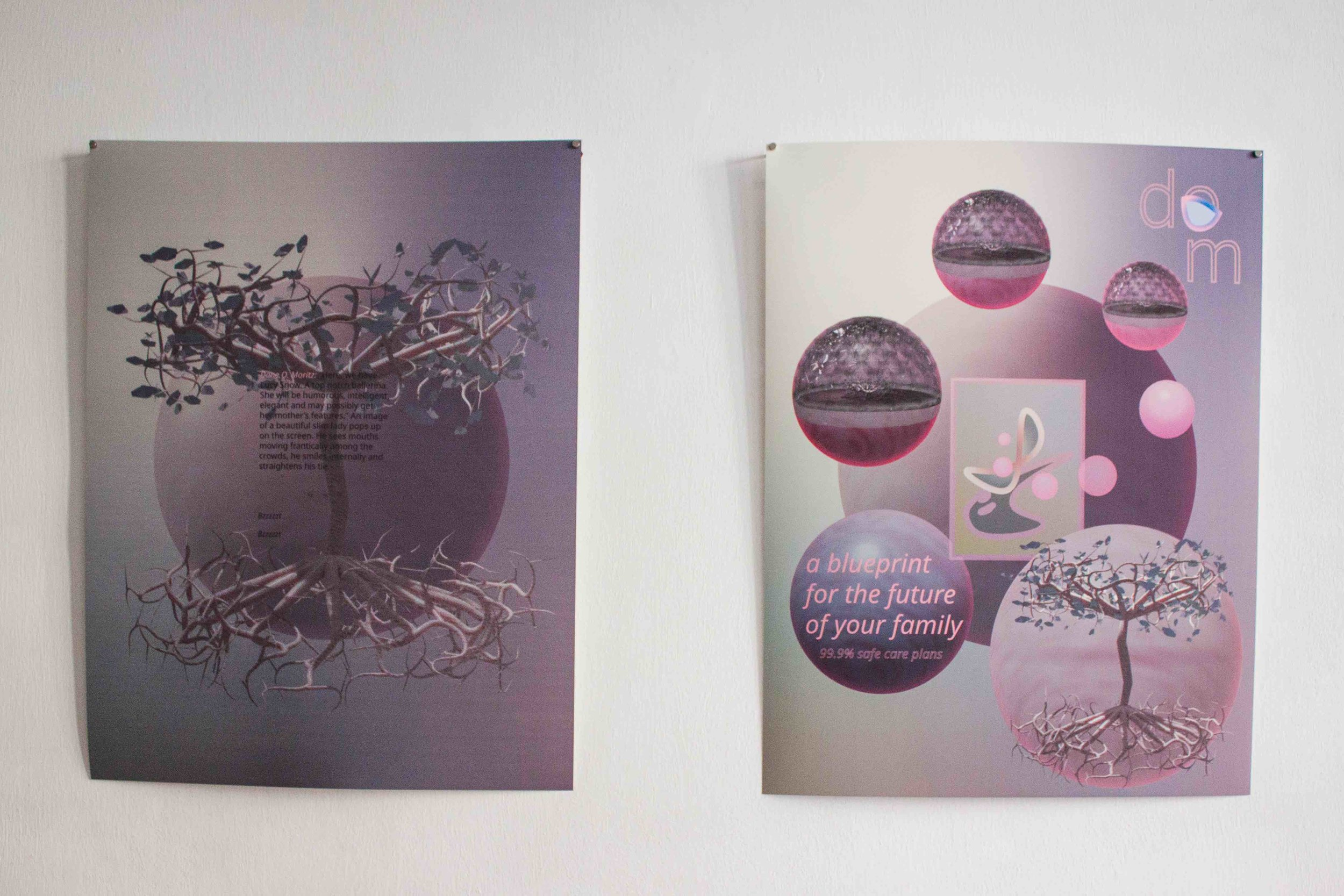 Denise Yap, 'Redundancy Notice', 2019, 2 printed posters with matt laminate, 42 x 59.4cm. Image courtesy of Grey Projects.