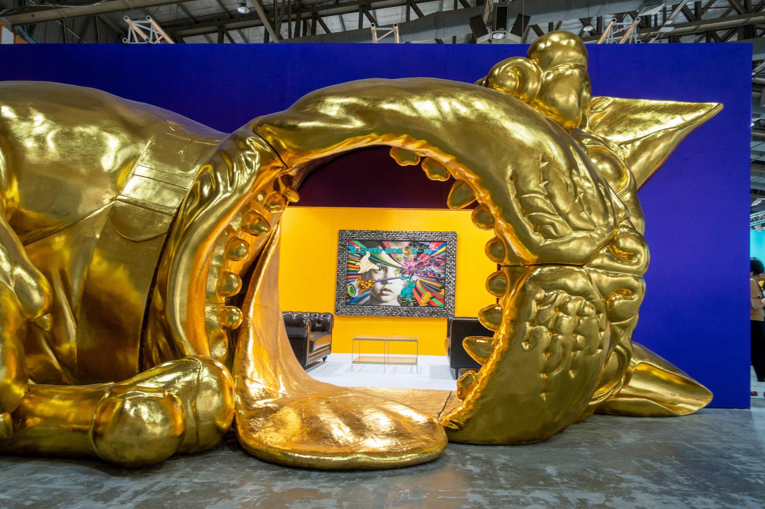Ronald Ventura, 'Bobro's World Tour Jakarta', 2019, installation view. Presented by Yavuz Gallery as part of Art Jakarta Spot. Image courtesy of Yavuz Gallery.