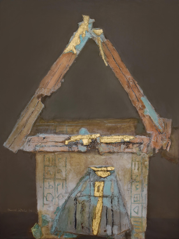 Ahmad Sadali, 'Gunungan', 1976, mixed media on canvas, 206 x 150cm. Image courtesy of Art Agenda, S.E.A.