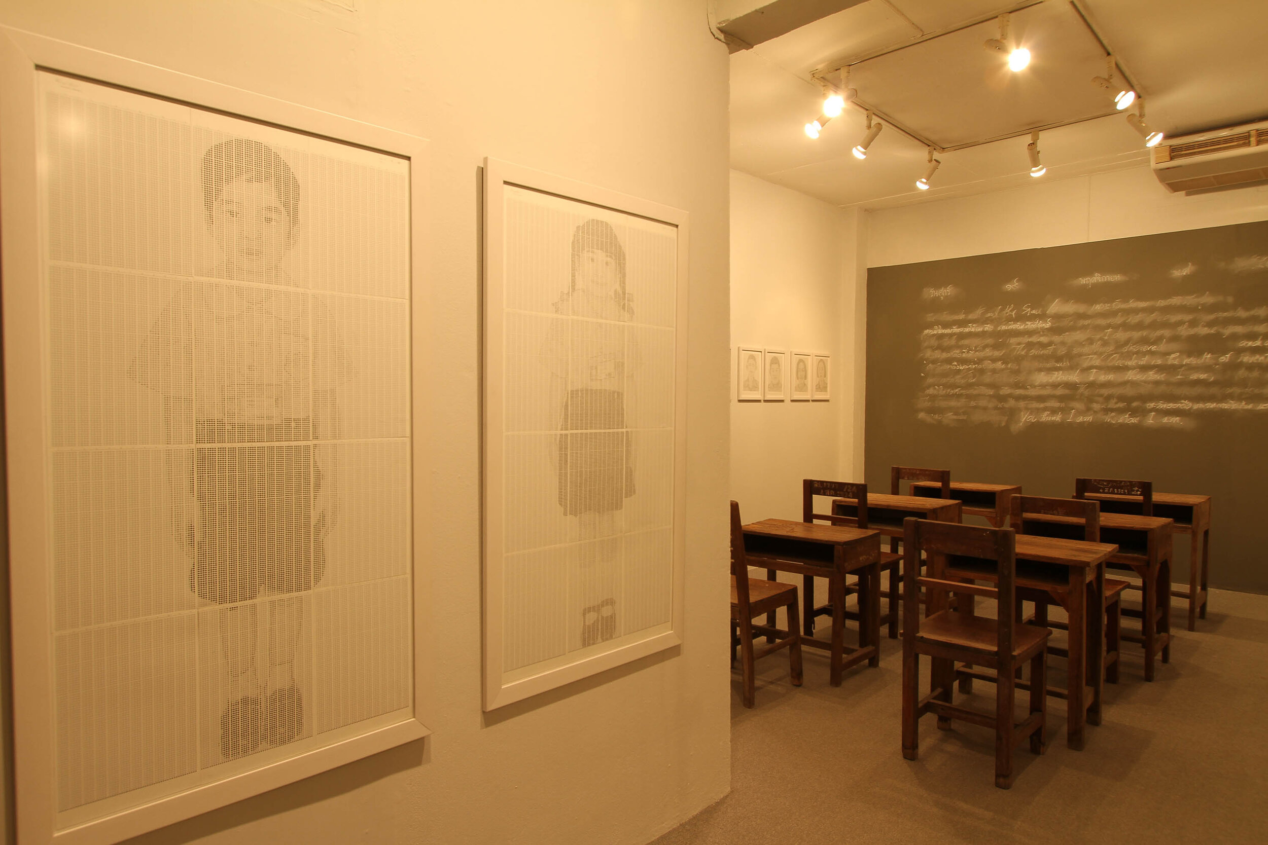 'The Classroom', 2010, exhibition installation view. Photograph by Aroon Peampoonsopon.