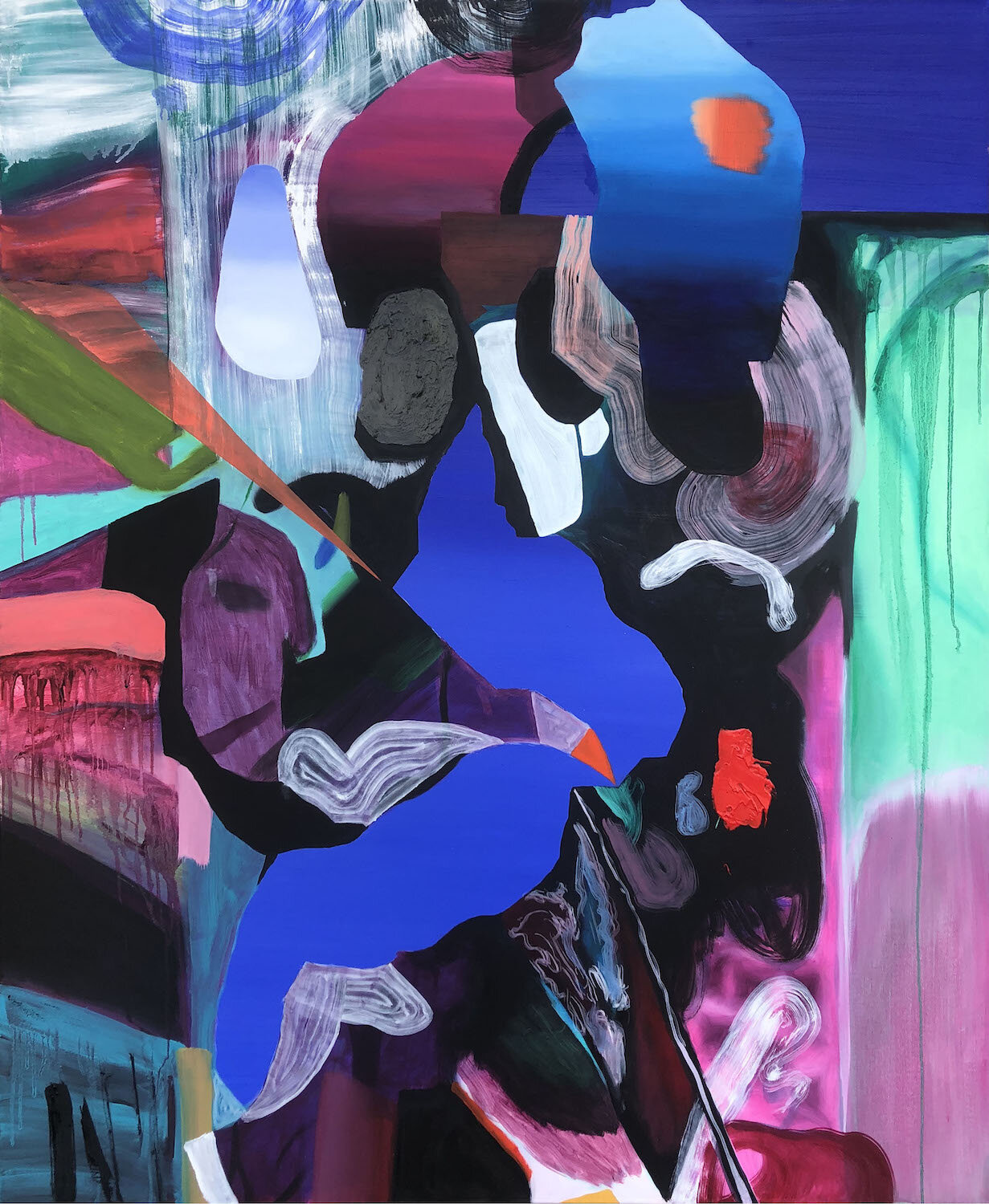 Keith Teo, 'I can't remember Adjacent Colors', 2019, oil on canvas, 150 x 120cm. Image courtesy of Richard Koh Fine Art and the artist.
