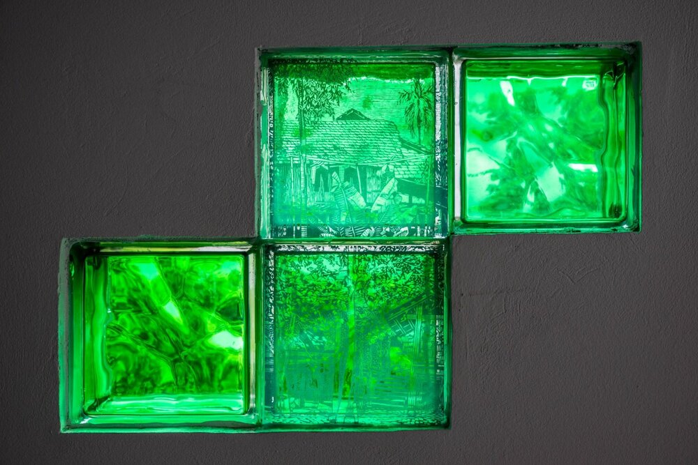 Phạm Khắc Quang, 'Glowing Hole', 2020, glass prints. Image courtesy of the artist-curator Nguyến Thế Sơn.