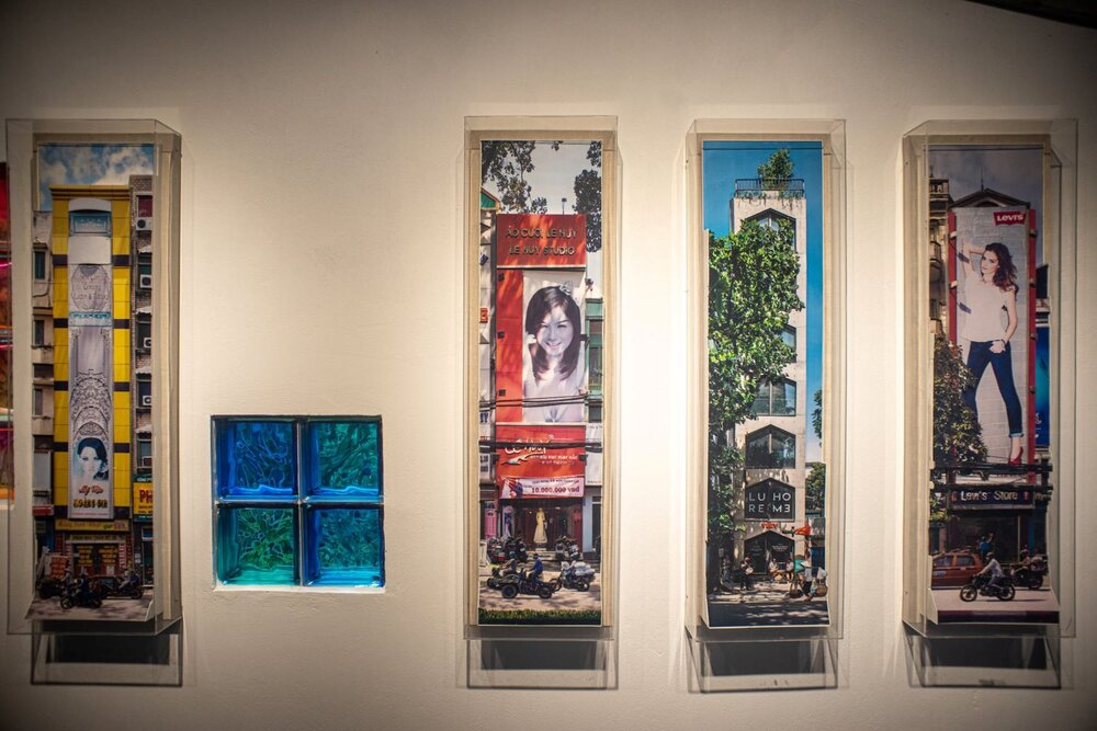 Nguyễn Thế Sơn, 'House Facing The Street', 2011–ongoing, a series of 5 photo-relief panels. Image courtesy of the artist-curator Nguyến Thế Sơn.