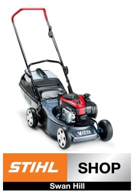 Stihl Shop Swan Hill   On the 25th & 26th of October get $50 Off !  Victa Corvette 200 Lawn Mower $499 RRP $449 Special Price   model no: 881894