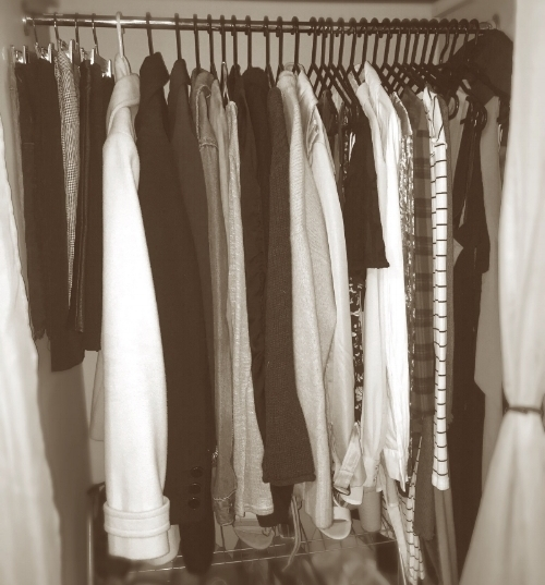 My winter wardrobe - about to be changed out for spring and summer!!!
