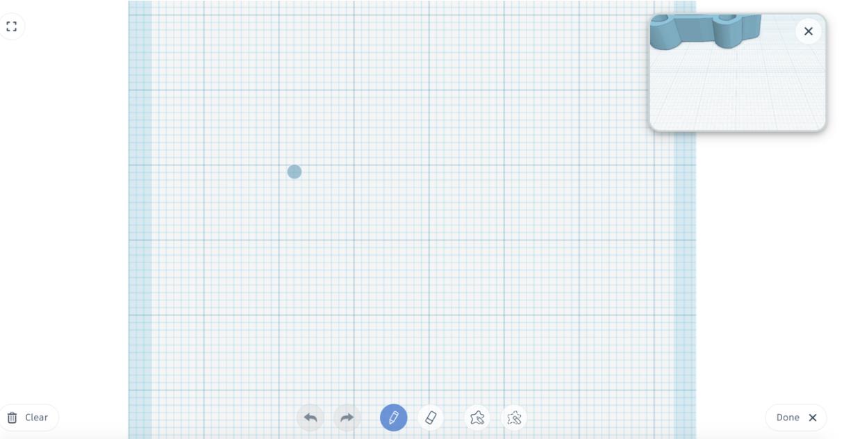 """Pritiskom na ikonu alata """"scribble"""", otvara se pogled odozgo na radnu površinu te zatim možete nacrtati što god poželite"""