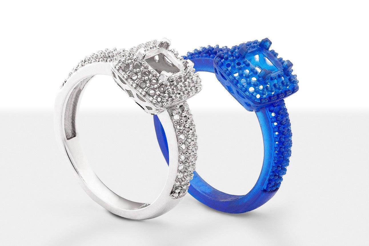 Srebrni prsten nastao iz kalupa za čiju je izradu korišten 3D ispisani, voštani model istog prstena izvor arageek.com